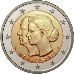 2 euro, Monaco, 2011. Albert and Charlene