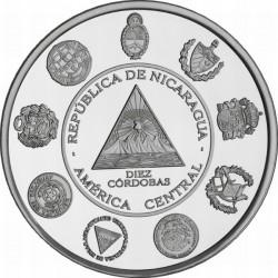 Nicaragua 2010, 10 córdoba. Iberoamericana.