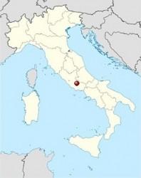 Ананьи на карте Италии