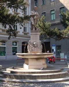 Памятник-фонтан Августину в Вене