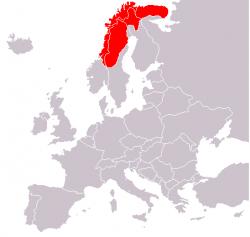 Лапландия на карте Европы