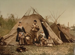 Саамская семья (Норвегия, ок. 1900 г.)