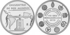 Памятная медаль VIII выпуска Иберо-Американской серии «Исторические монеты»