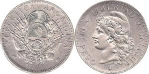 Argentina 1 peso patacon 1882