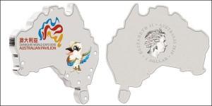 Серебряная монета «Всемирная выставка «Шанхай 2010 Экспо. Павильон Австралии», победитель номинации «Сувенирная монета».