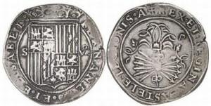 8 реалов (Севилья, 1506-1566 гг., 27г, 40 мм)