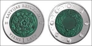 Латвийская «Монета времени III», победитель номинации «Уникальное идейное решение»: