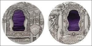 10 серебряных долларов Республики Палау — «Рококо» из серии «Искусство Тиффани»
