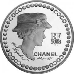 5 евро, Франция, 2008 (Коко Шанель), серебро