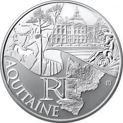 10 евро. Регионы Франции - Памятники. Аквитания