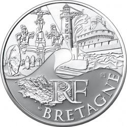 10 евро. Регионы Франции - Памятники. Бретань
