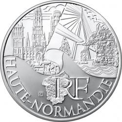 10 евро. Регионы Франции - Памятники. Верхняя Нормандия