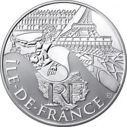 10 евро. Регионы Франции - Памятники. Иль-де-Франс