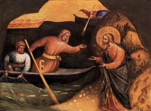 Призыв апостолов Андрея и Петра (Лоренцо Венециано, 1370, Берлинская картинная галерея)