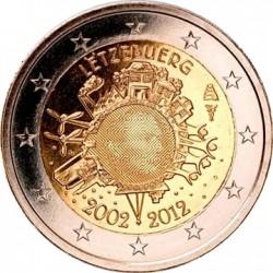2 евро, Люксембург, 2012 «10 лет наличному обращению евро»
