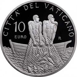 10 евро, Ватикан (60 лет священного рукоположения Папы римского Бенедикта XVI)