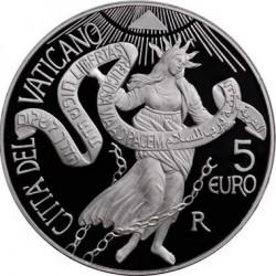 5 евро, Ватикан (44-й Международный день мира)