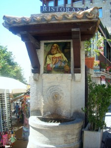 Artful fountain in San Marino