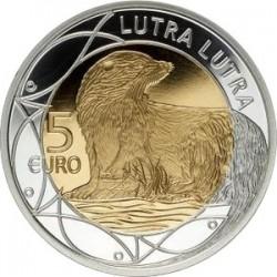 Люксембург, 5 евро (Обыкновенная выдра)