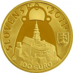 Словакия, 100 евро (1150 лет со смерти князя Прибины)