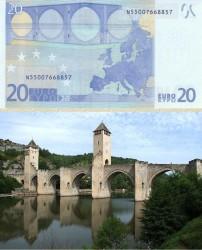 Купюра в 20 евро