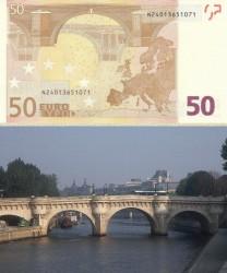 Купюра в 50 евро