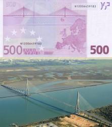 Купюра в 500 евро