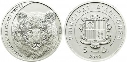 Андорра, 5 динар, «Бурый медведь Кантабрии»