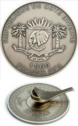 Кот-д'Ивуар, 1500 франков, «Кибла компас»