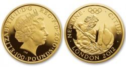 Великобритания, 100 фунтов стерлингов, «ХХХ Олимпийские игры в Лондоне 2012 года. Нептун»