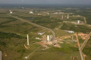 Гвианский космический центр с высоты птичьего полёта