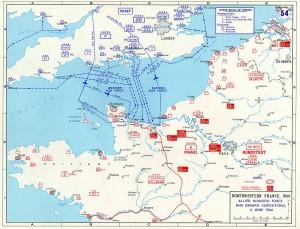 Диспозиция войск 6 июня 1944 г.