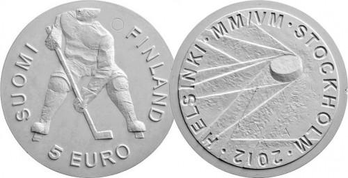 5 евро в честь Чемпионата мира по хоккею 2012