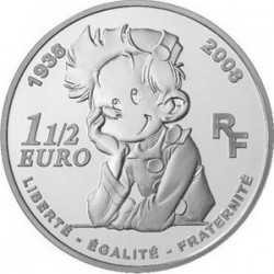 Франция 2008, 1,5 евро, Spirou (Спиру)