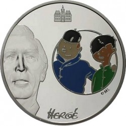Франция 2008, 1 1/2 евро, Тинтин и Чанг