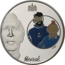 Франция 2008, 1 1/2 евро, Тинтин и капитан Хаддок