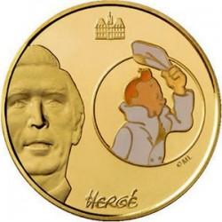 Франция 2008, 10 евро, Тинтин (Tintin)