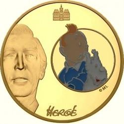 Франция 2008, 50 евро, Тинтин и Милу
