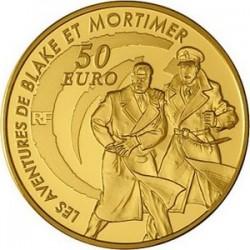 Франция 2010, 50 евро, Blake and Mortimer («Блэйк и Мортимер»)