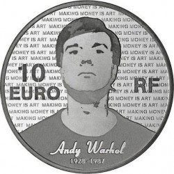 France 2011. 10 euro. Andy Warhol