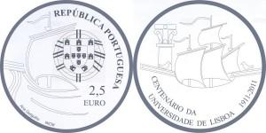 2,5 евро «100 лет Лиссабонскому университету»