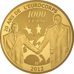 France 2012, 1000 euro, Eurocorps