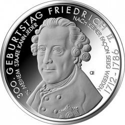 Германия, 10 евро (300 лет со дня рождения короля Пруссии Фридриха Великого)