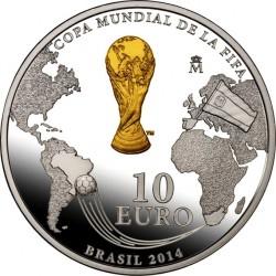 Spain 10 euro. Copa do Mundo FIFA de 2014