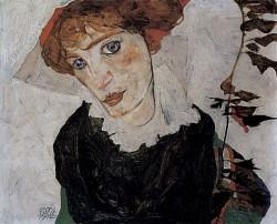 Портрет Уолли (1912, Музей Леопольда, Вена)