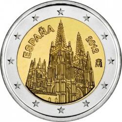 2 euro. Spain 2012. Catedral de Burgos