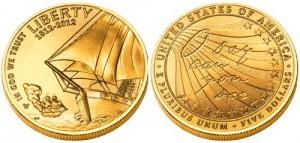 Монета «Морское сражение во время войны 1812 года»