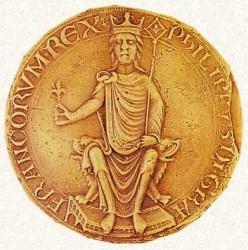 Печать Филиппа II (1177 г., Национальный архив, Париж)