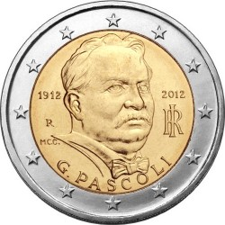 Италия 2012. 2 евро, Джованни Пасколи