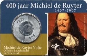 Netherlands 2007. 5 euro. Ruyter coinscard